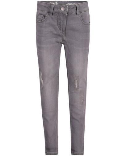 Jeans gris destroyed